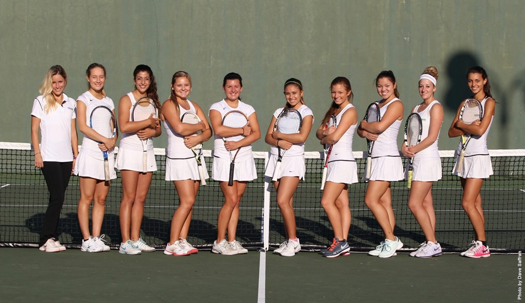 women's tennis action shot
